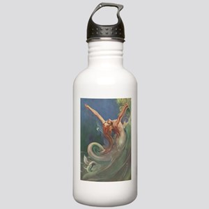 Vintage 1930s Mermaid Stainless Water Bottle 1.0L