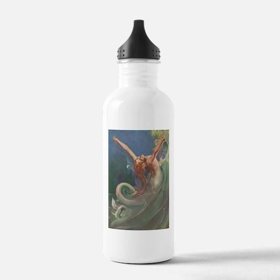 Vintage 1930s Mermaid Water Bottle