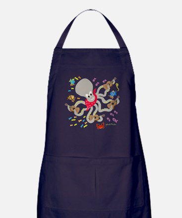 Otto and his Ukulele Band Apron (dark)