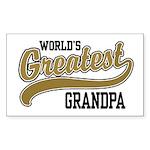 World's Greatest Grandpa Sticker (Rectangle)