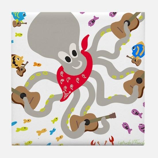 Otto and his Ukulele Band Tile Coaster