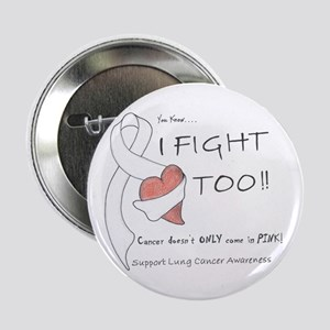 """Lung Cancer Support 2.25"""" Button"""