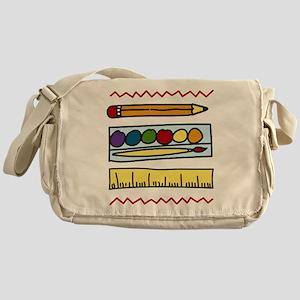 Art Supplies Messenger Bag