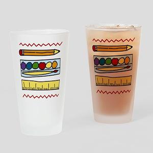 Art Supplies Drinking Glass
