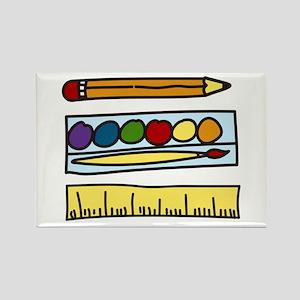Art Supplies Rectangle Magnet