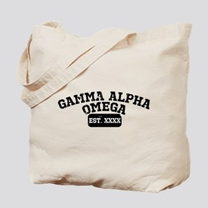 Gamma Alpha Omega Athletic Personalized Tote Bag