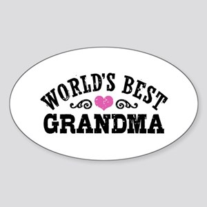 World's Best Grandma Sticker (Oval)