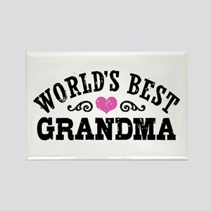 World's Best Grandma Rectangle Magnet