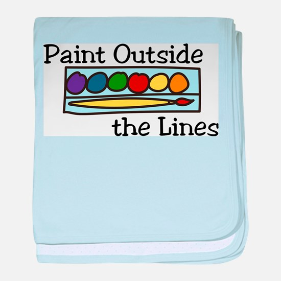 Paint Outside The Lines baby blanket