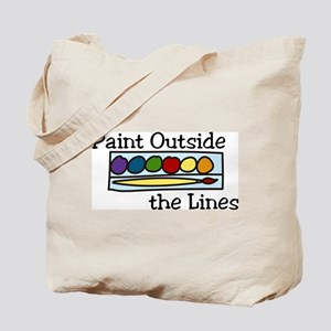 Paint Outside The Lines Tote Bag