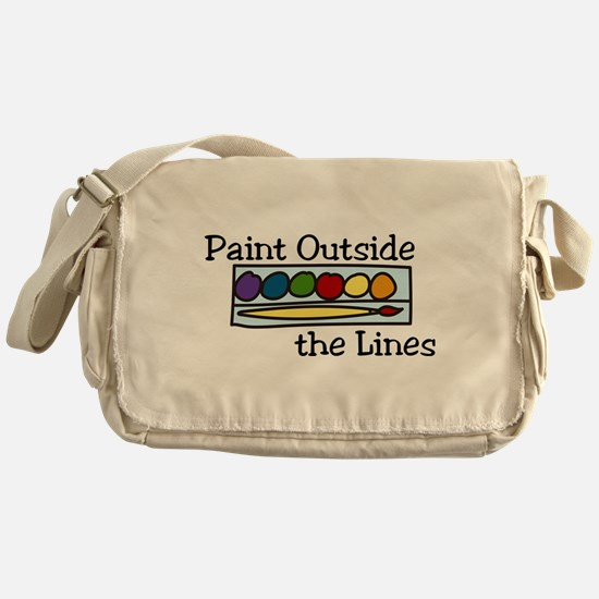 Paint Outside The Lines Messenger Bag
