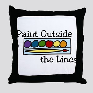 Paint Outside The Lines Throw Pillow