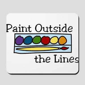 Paint Outside The Lines Mousepad