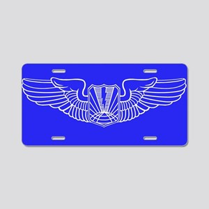UAV Pilot Wings Aluminum License Plate