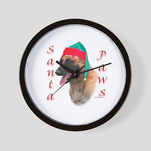 Santa Paws Belgian Malinois Wall Clock