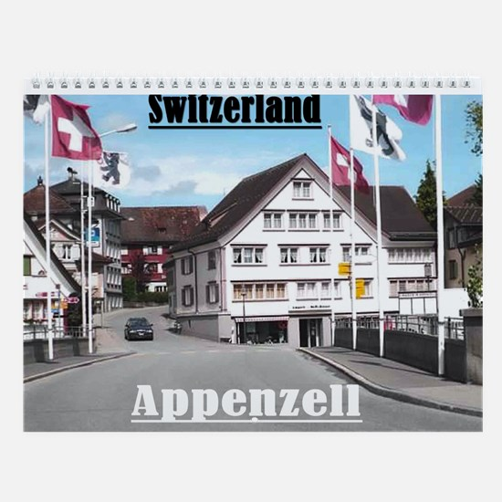 Appenzell, Switzerland Wall Calendar