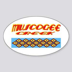 MUSCOGEE CREEK Sticker (Oval)