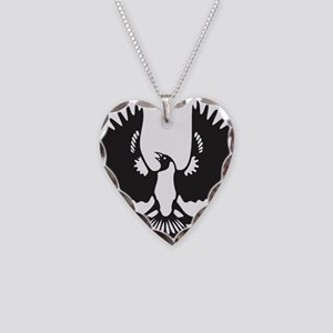 SAP Piping Shrike Necklace Heart Charm