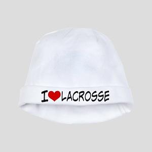 I Heart Lacrosse baby hat