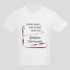 Belgian Tervuren Travel Leash Kids T-Shirt