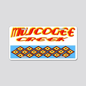 MUSCOGEE CREEK Aluminum License Plate