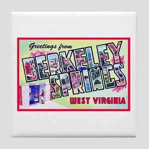 Berkeley Springs West Virginia Tile Coaster