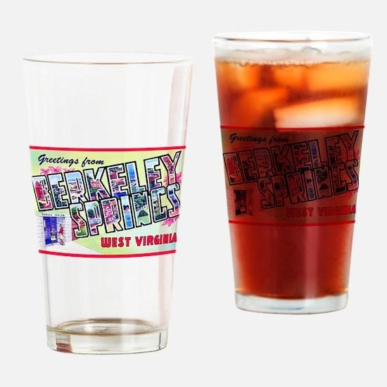 Berkeley Springs West Virginia Drinking Glass