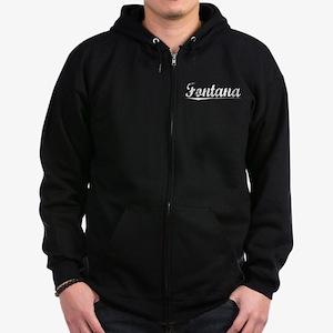 Fontana, Vintage Zip Hoodie (dark)