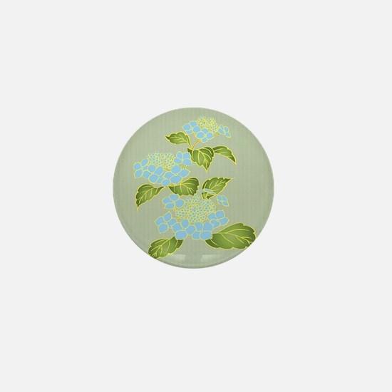 Ajisai Hydrangeas Mini Button