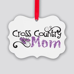 Cross Country Mom Picture Ornament