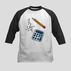 Math Calculator Kids Baseball Jersey