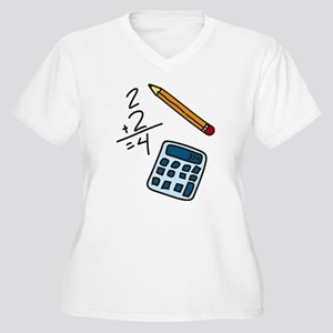 Math Calculator Women's Plus Size V-Neck T-Shirt