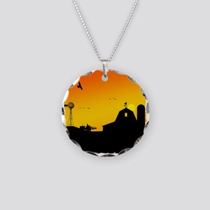 Morning of the Farm Necklace Circle Charm