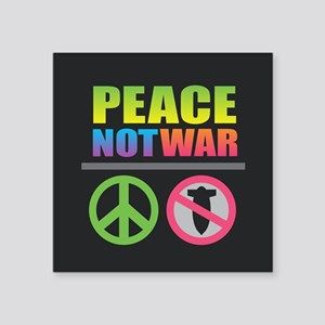 Peace Not War Rainbow Sticker