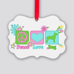 Bull Terrier Picture Ornament