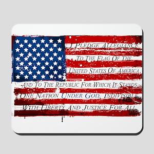 Patriotic Pledge of Allegiance USA Flag Mousepad