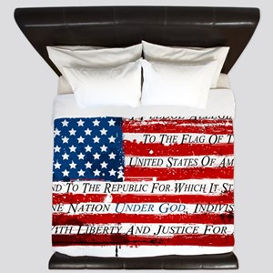 Patriotic Pledge of Allegiance USA Flag King Duvet