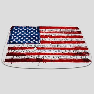 Patriotic Pledge of Allegiance USA Flag Bathmat