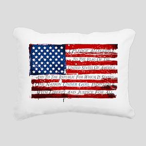 Patriotic Pledge of Alle Rectangular Canvas Pillow