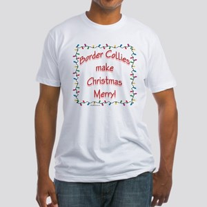Border Collie Merry Fitted T-Shirt