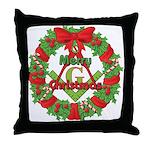 Masonic Christmas Wreath Throw Pillow