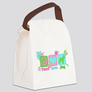 Boston Terrier Canvas Lunch Bag