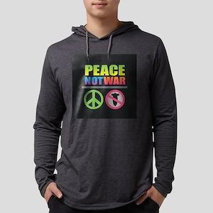 Peace Not War Rainbow Mens Hooded Shirt