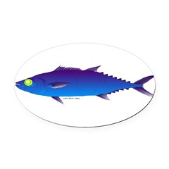 Escolar (Lilys Deep Sea Creatures) Oval Car Magnet