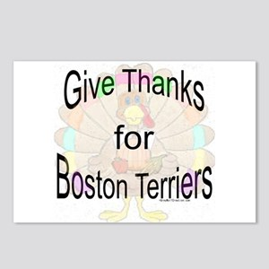 Thanks for Boston Terrier Postcards (Package of 8)
