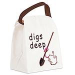 Digs Deep By Blakk Frogg Canvas Lunch Bag