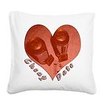 heart_cheap_date Square Canvas Pillow