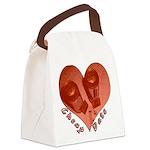 heart_cheap_date Canvas Lunch Bag