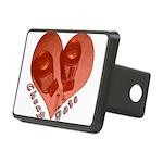 heart_cheap_date Rectangular Hitch Cover