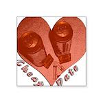 heart_cheap_date Square Sticker 3